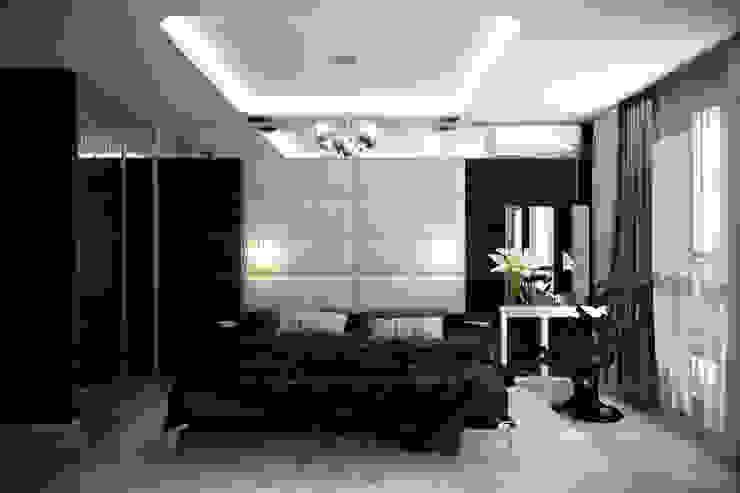 """Дизайн спальни в современном стиле в ЖК """"Большой"""" Спальня в стиле модерн от Студия интерьерного дизайна happy.design Модерн"""