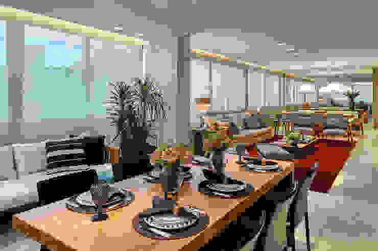 Amis Arquitetura e Decoração Balcones y terrazas de estilo moderno