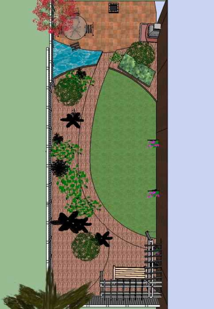 Plan: country  by Jane Harries Garden Designs, Country