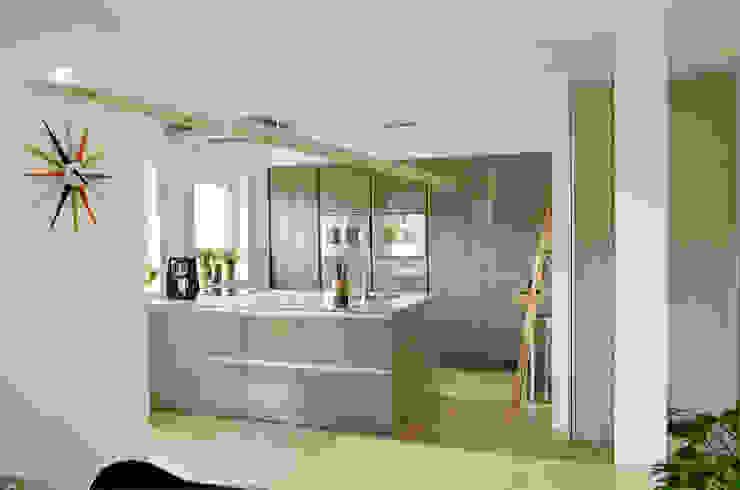Projekty,  Kuchnia zaprojektowane przez HONEYandSPICE innenarchitektur + design, Nowoczesny