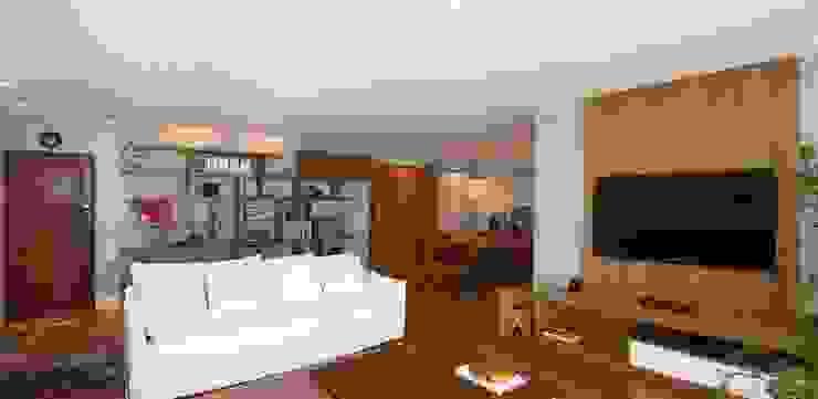 Living por Egg. Interiores Eclético Derivados de madeira Transparente