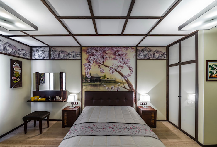 Asian style bedroom by Belimov-Gushchin Andrey Asian