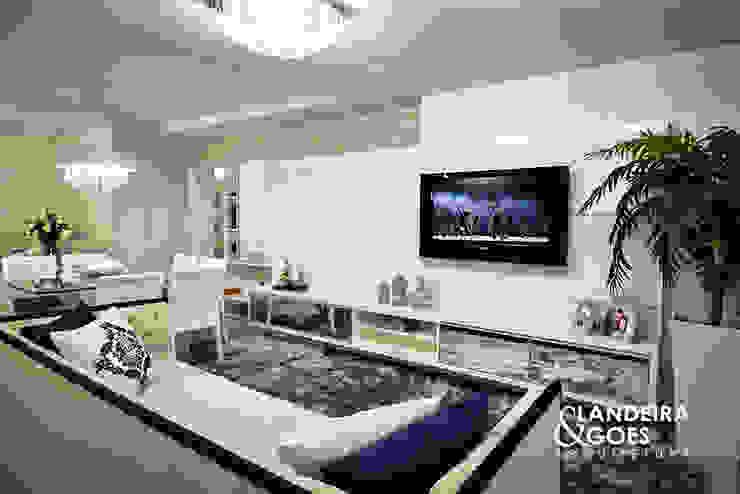 Apartamento Decorado - Balneário Camboriú Salas de estar modernas por Landeira & Goes Arquitetura Moderno