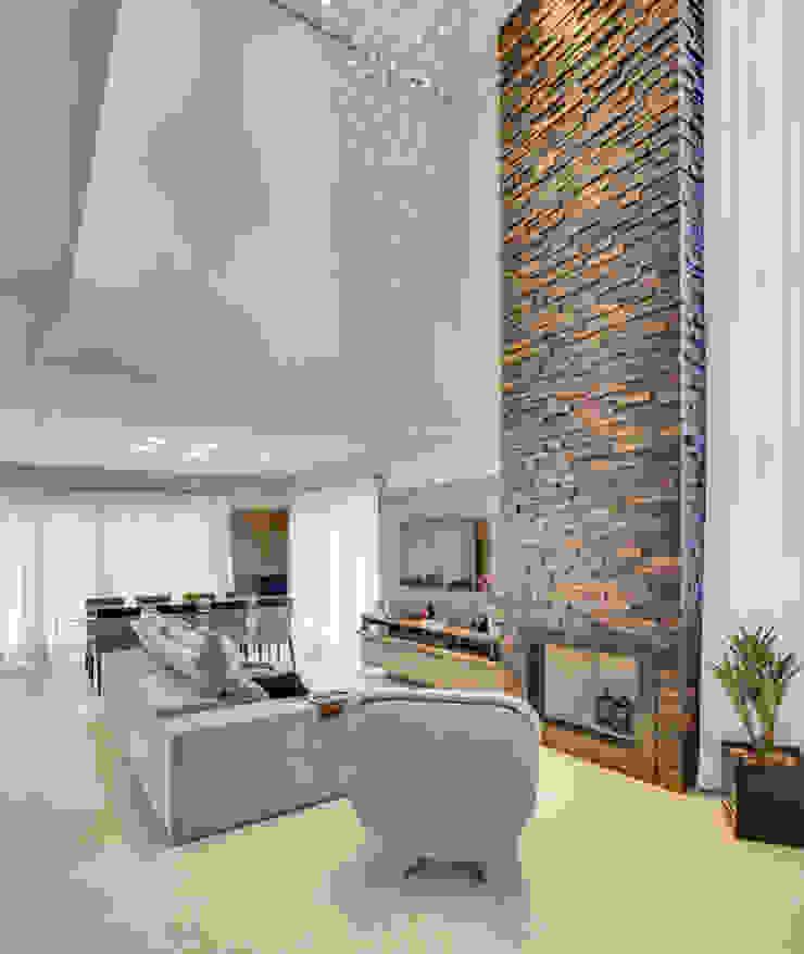 RJR Salas de estar modernas por Angelica Pecego Arquitetura Moderno