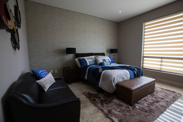 Interiorismo para residencia en Altozano Morelia Recámaras industriales de Dovela Interiorismo Industrial