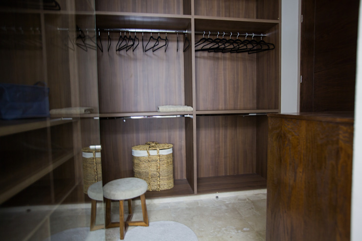 Interiorismo para residencia en Altozano Morelia Dormitorios modernos de Dovela Interiorismo Moderno Madera Acabado en madera