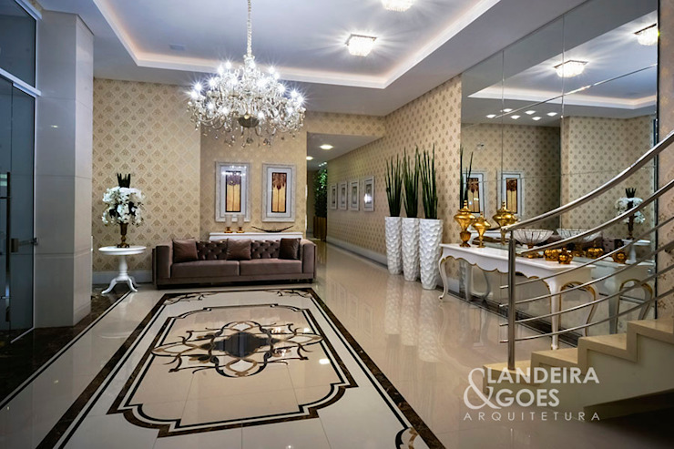 Classic style corridor, hallway and stairs by Landeira & Goes Arquitetura Classic
