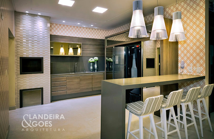Modern style kitchen by Landeira & Goes Arquitetura Modern