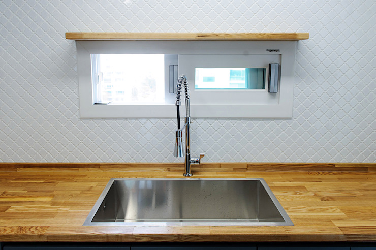 목소리 KitchenSinks & taps Wood Grey