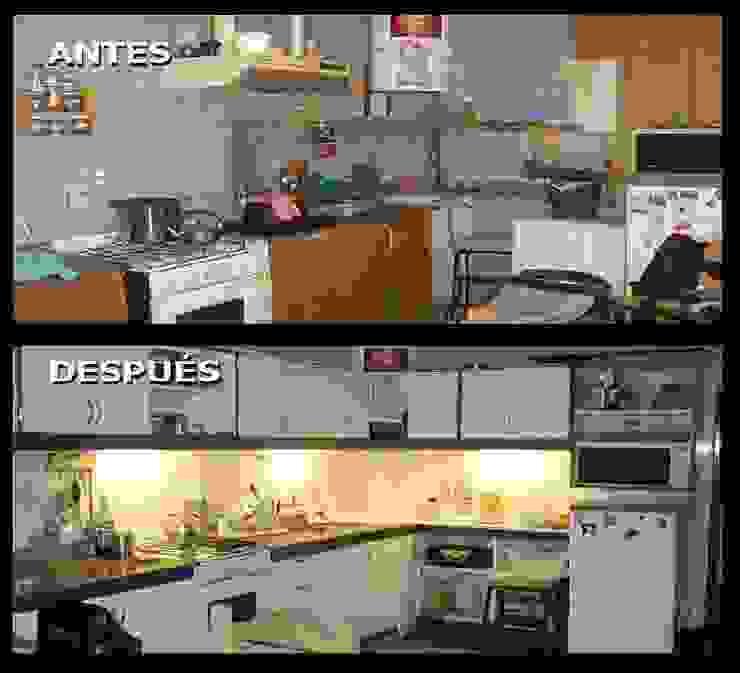 Remodelacón cocina Cocinas clásicas de Estela Ramírez, arquitecta. Clásico Compuestos de madera y plástico