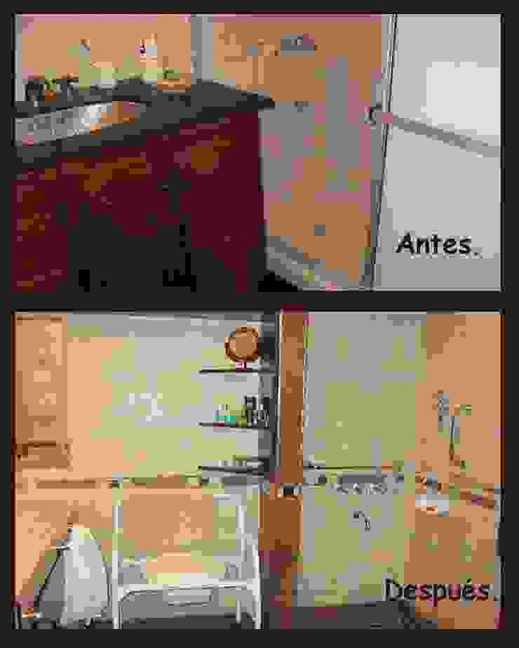 Baños discapacitados Baños clásicos de Estela Ramírez, arquitecta. Clásico Hormigón