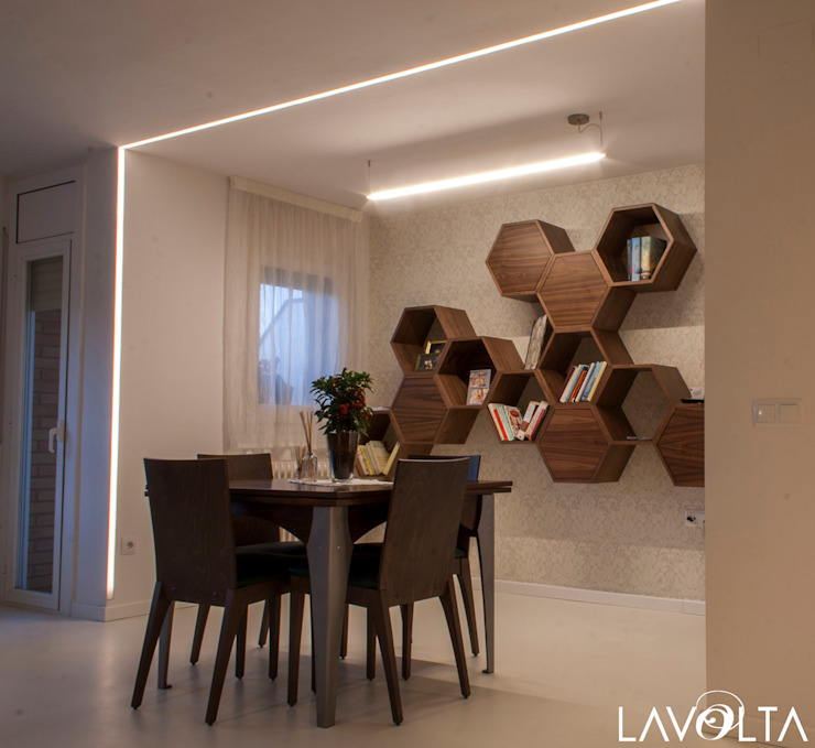 Modern dining room by Lavolta Modern Wood Wood effect
