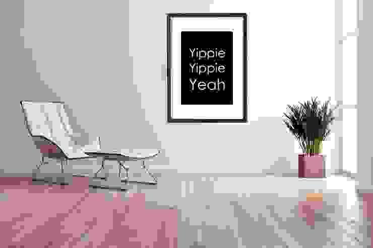 Print Yippie Yeah: modern  von Nini & MiniMe,Modern Papier