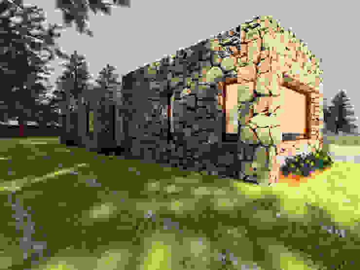 CubiK Maisons modernes Pierre Beige