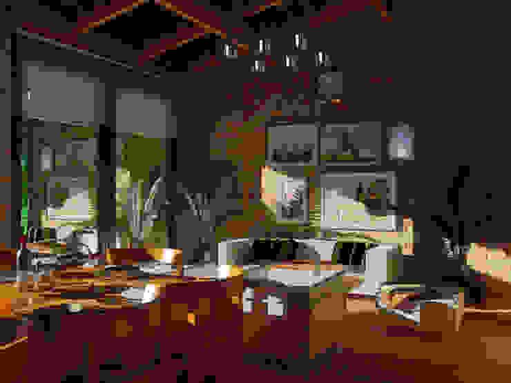 VIVIENDA UNIFAMILIAR EN EL CAMPO / RENDERS Livings modernos: Ideas, imágenes y decoración de CubiK Moderno