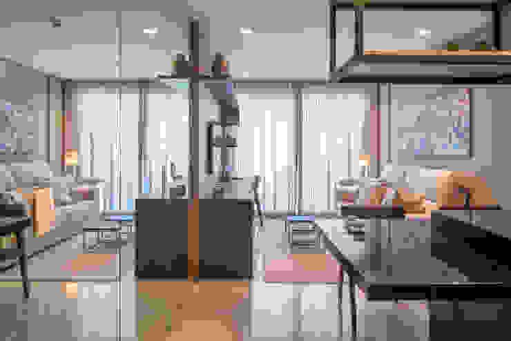 Apartamento HM Salas de estar modernas por Carpaneda & Nasr Moderno