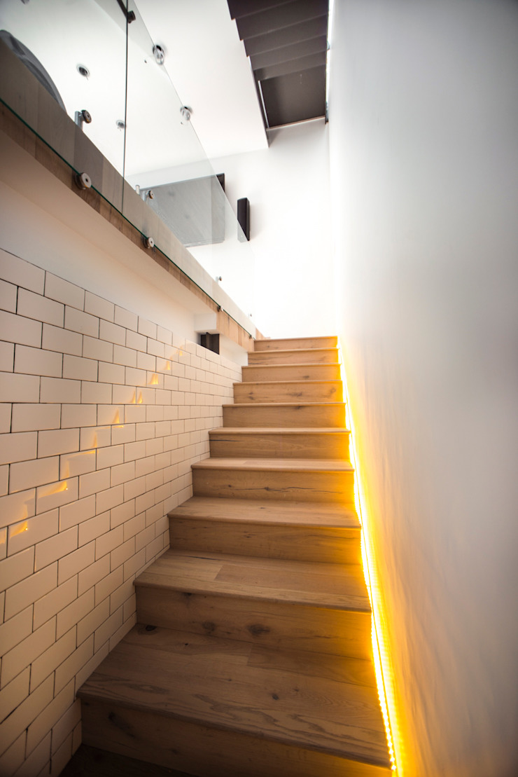 Modern Corridor, Hallway and Staircase by TW/A Architectural Group Modern