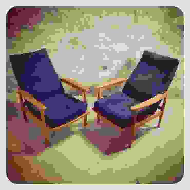 60´s Guy Rogers Reclinable Easy Chairs por Retro Wood Rústico