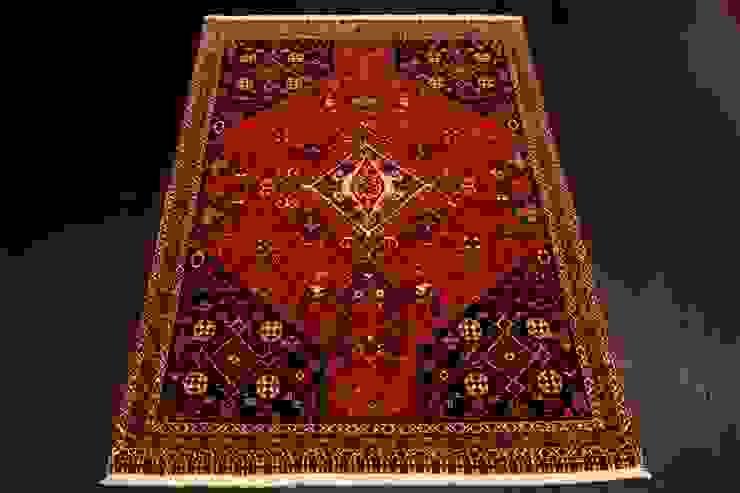 """Tradycyjny dywan irański """"Kaszkaj/Gashkouli"""" od Sarmatia Trading Klasyczny Wełna Pomarańczowy"""