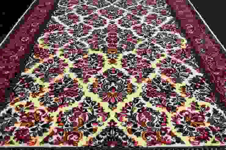 """Klasyczny dywan perski """"Saruk/Sarouk"""" od Sarmatia Trading Klasyczny Wełna Pomarańczowy"""