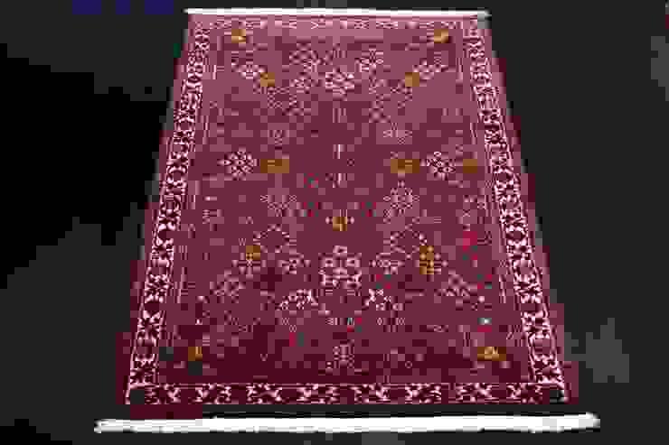"""Tradycyjny dywan perski """"Mimeh/Meymeh"""" od Sarmatia Trading Klasyczny Wełna Pomarańczowy"""