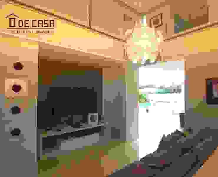 Alphaville litoral norte I Salas de estar modernas por o de casa arquitetura Moderno