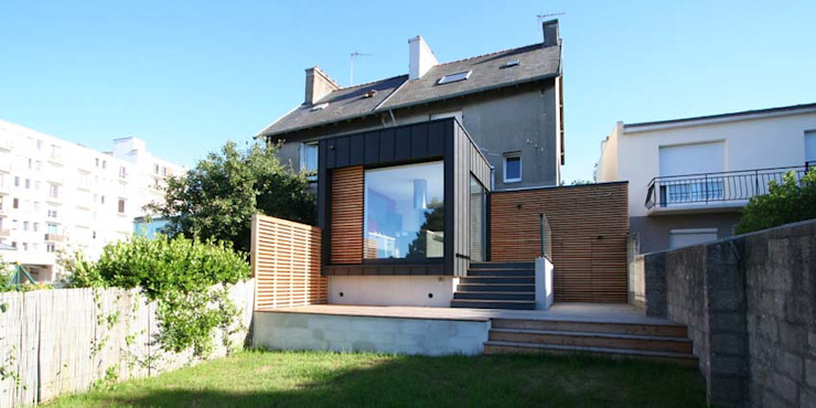 Houses by Trace & Associes architecture, Modern Wood Wood effect