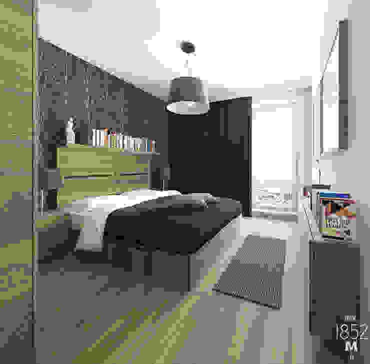 1852M モダンスタイルの寝室