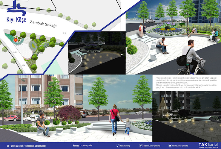 Sunum paftası Modern Bahçe konseptDE Peyzaj Fidancılık Tic. Ltd. Şti. Modern