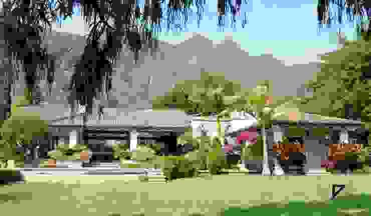 Kolonialny ogród od De Ovando Arquitectos Kolonialny