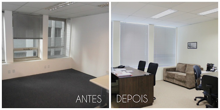 É! Arquitetura e Design Commercial Spaces MDF Brown