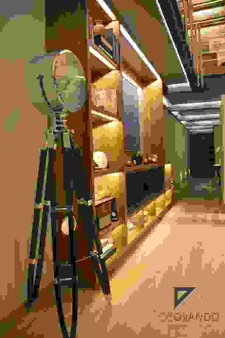 Pent House in Polanco Mexico City Salones modernos de De Ovando Arquitectos Moderno