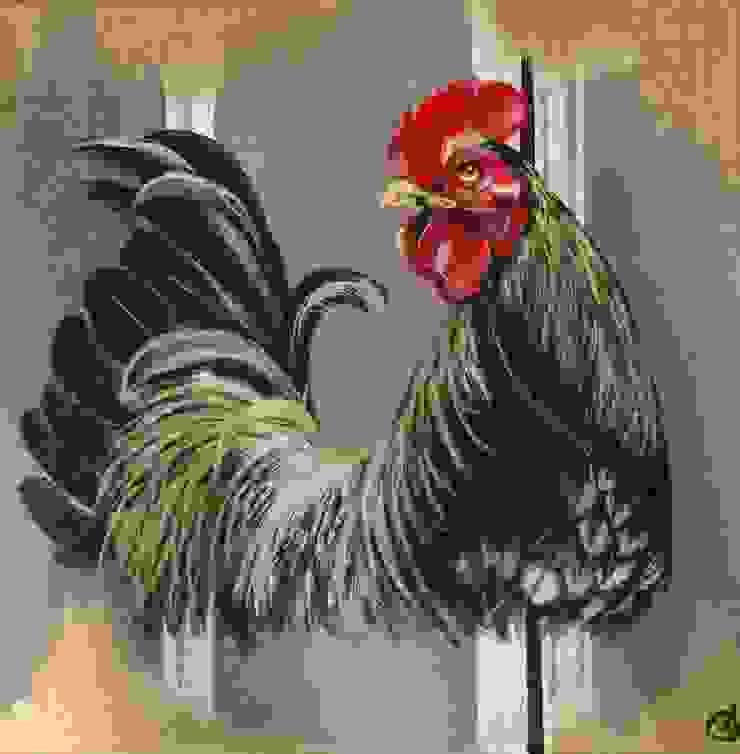 Odile Laresche Artiste Peintre Animalier 藝術品其他藝術物件 亞麻織品 Grey