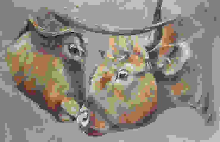 Odile Laresche Artiste Peintre Animalier Ingresso, Corridoio & ScaleAccessori & Decorazioni Lino Grigio
