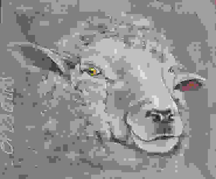 Odile Laresche Artiste Peintre Animalier 家居用品配件與裝飾品 亞麻織品 Grey