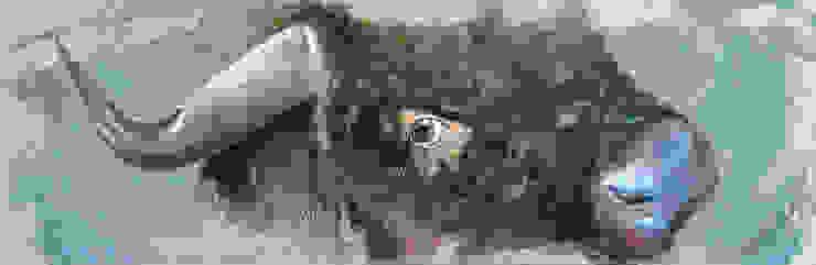 Odile Laresche Artiste Peintre Animalier ArteAltri oggetti d'arte Lino Grigio