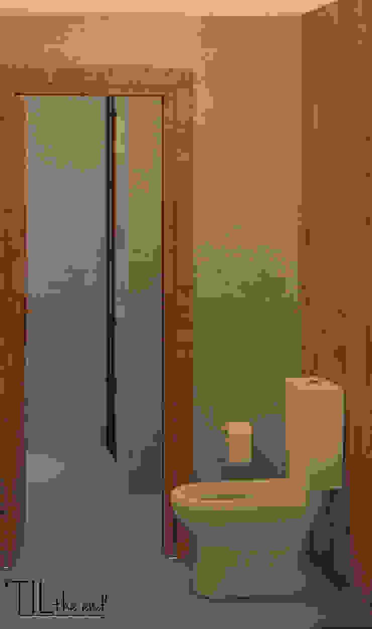 Sanitary Instalation of a restaurant Espaços de restauração industriais por Lagom studio Industrial Madeira Acabamento em madeira