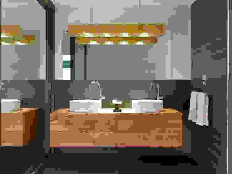 Salle de bains de style  par Baufritz (UK) Ltd., Moderne