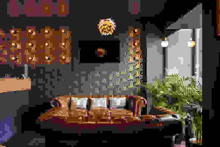 Transformation d'un local commercial en salon de thé avec fumoir Bars & clubs minimalistes par homify Minimaliste Bois Effet bois