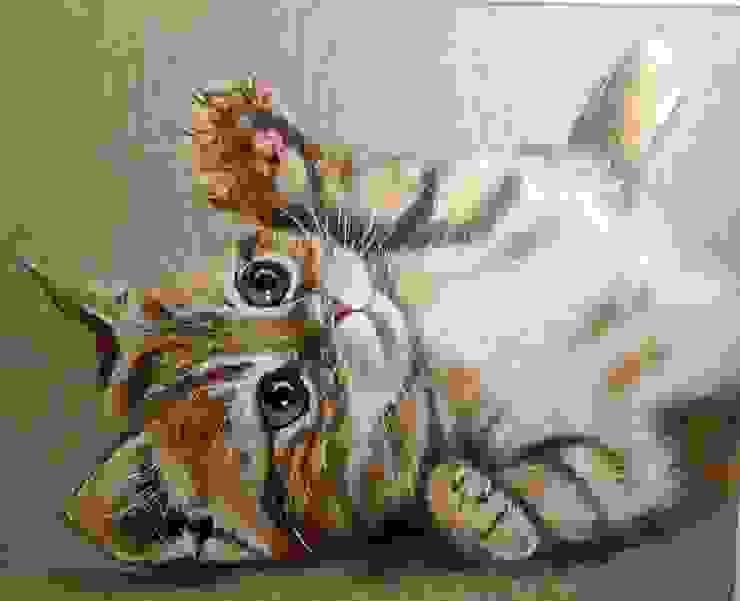 Chaton Roux par Odile Laresche Artiste Peintre Animalier Éclectique