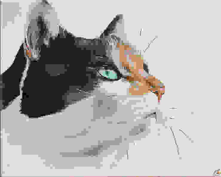 En souvenir de Pepette... par Odile Laresche Artiste Peintre Animalier Éclectique