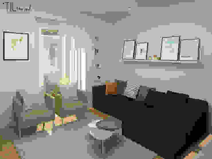 Apartment in Belém, Lisbon: Salas de estar  por Lagom studio,Escandinavo