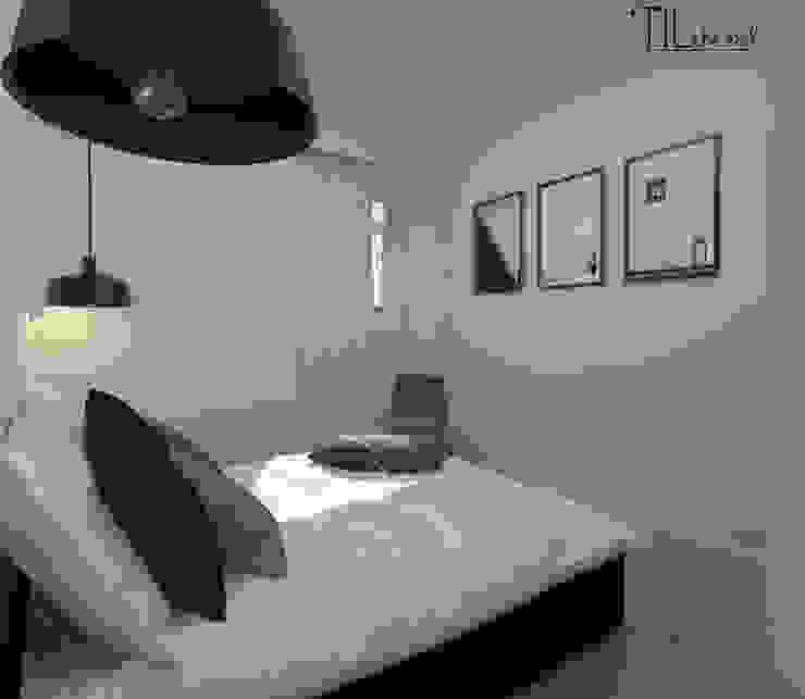 Apartment in Belém, Lisbon: Quartos  por Lagom studio,Escandinavo