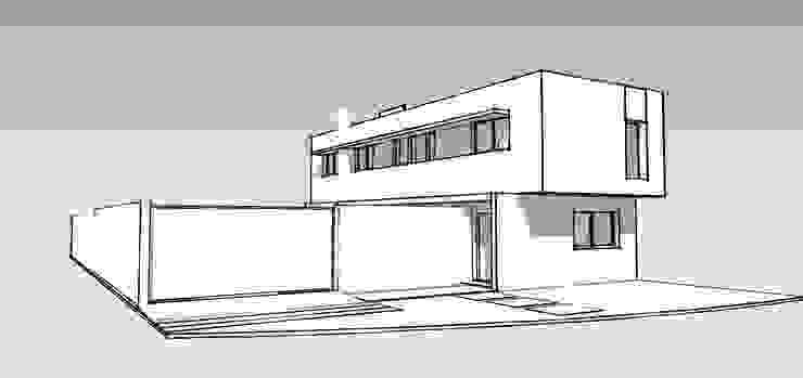 Vivienda DLB – Tejas 2 (proyecto y obra) de ANDA arquitectos Moderno