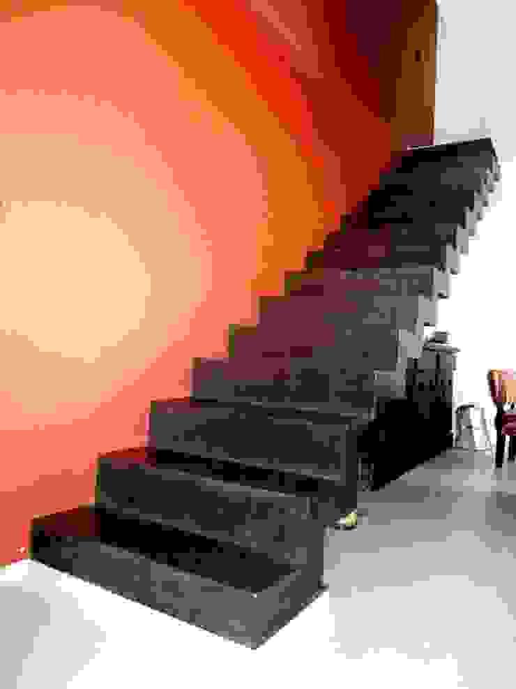 Vivienda DLB – Tejas 2 (proyecto y obra) Pasillos, vestíbulos y escaleras modernos de ANDA arquitectos Moderno