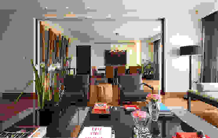 Departamento Tabachines Salones modernos de Hansi Arquitectura Moderno