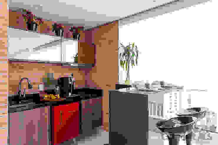 Balcones y terrazas de estilo  por Martins Valente Arquitetura e Interiores