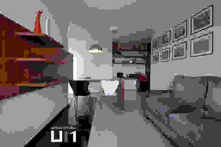 Apartamento DE Salas de estar minimalistas por Arquitetura 1 Minimalista