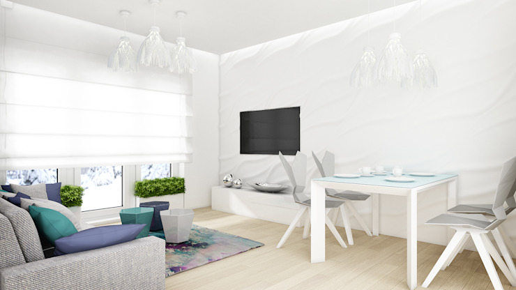 에클레틱 거실 by 3miasto design 에클레틱 (Eclectic)
