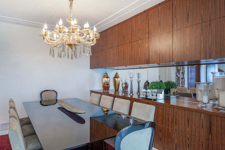 Dining room by Martins Valente Arquitetura e Interiores